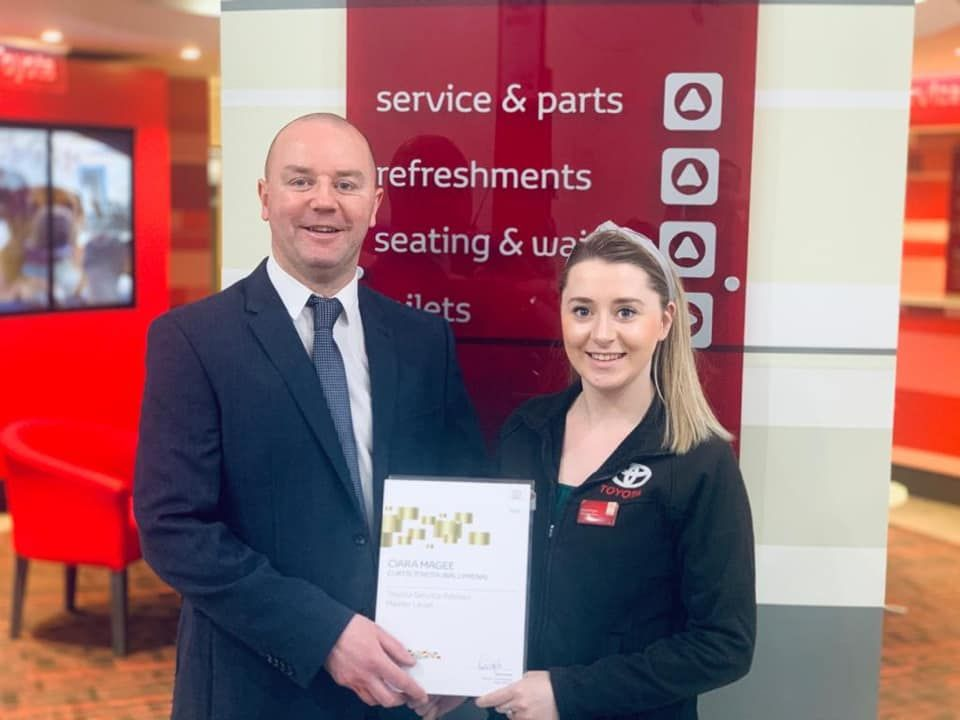 Master Toyota Service Level Award for Ciara!